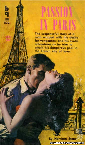 Bedside Books BB 822 - Passion In Paris by Harrison Stone, cover art by Unknown (1959)