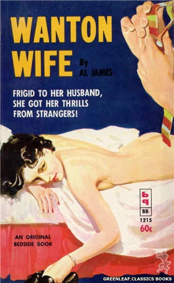 Bedside Books BB 1215 - Wanton Wife by Al James, cover art by Harold W. McCauley (1962)