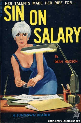 Sundown Reader SR609 - Sin On Salary by Dean Hudson, cover art by Darrel Millsap (1966)