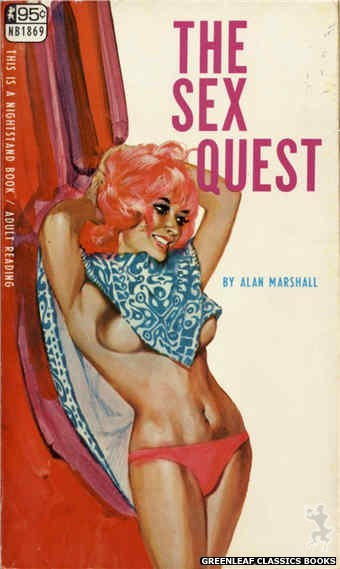 Nightstand Books NB1869 - The Sex Quest by Alan Marshall, cover art by Darrel Millsap (1968)