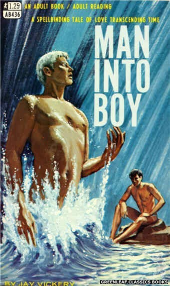 Adult Books AB436 - Man Into Boy by Jay Vickery, cover art by Ed Smith (1968)