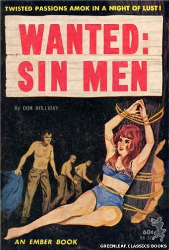 Ember Books EB922 - Wanted: Sin Men by Don Holliday, cover art by Unknown (1964)
