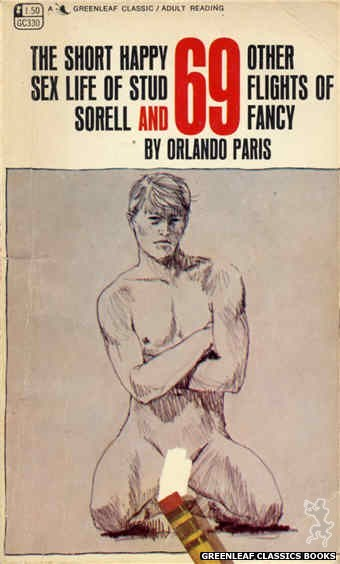 Greenleaf Classics GC330 - The Short Happy Sex Life of Stud Sorell by Orlando Paris, cover art by Harry Bremner (1968)