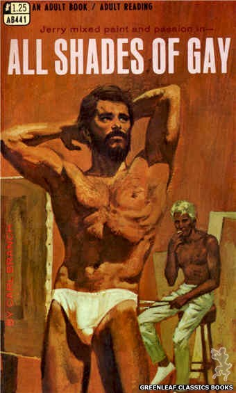 Adult Books AB441 - All Shades of Gay by Carl Branch, cover art by Robert Bonfils (1968)