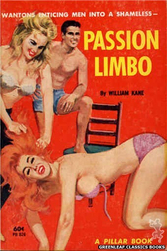 Pillar Books PB826 - Passion Limbo by William Kane, cover art by Robert Bonfils (1964)
