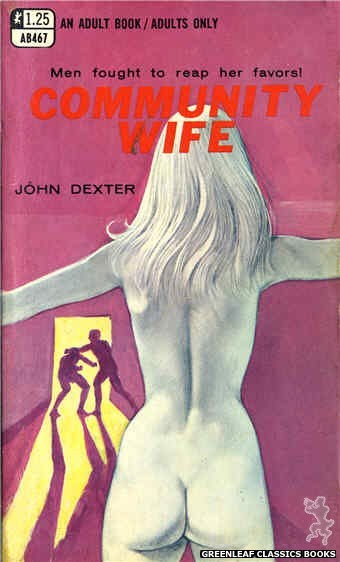 Adult Books AB467 - Community Wife by John Dexter, cover art by Unknown (1969)