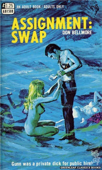 Adult Books AB1508 - Assignment: Swap by Don Bellmore, cover art by Robert Bonfils (1969)