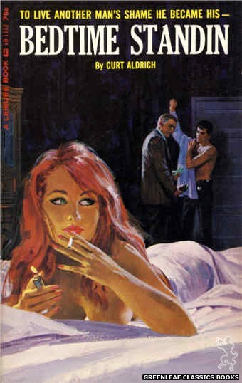 Leisure Books LB1112 - Bedtime Standin by Curt Aldrich, cover art by Robert Bonfils (1965)