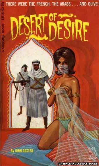 Leisure Books LB1171 - Desert Of Desire by John Dexter, cover art by Ed Smith (1966)