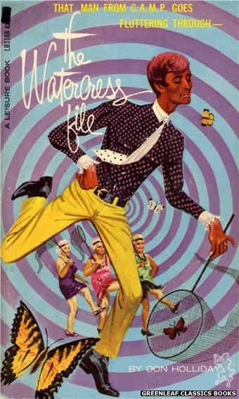 Leisure Books LB1168 - The Watercress File by Don Holliday, cover art by Robert Bonfils (1966)