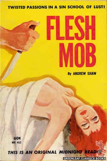 Midnight Reader 1961 MR462 - Flesh Mob by Andrew Shaw, cover art by Unknown (1962)
