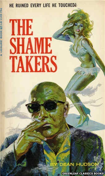 Leisure Books LB1145 - The Shame Takers by Dean Hudson, cover art by Robert Bonfils (1966)