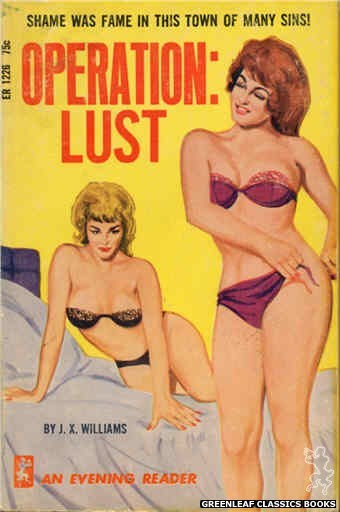 Evening Reader ER1226 - Operation: Lust by J.X. Williams, cover art by Unknown (1966)