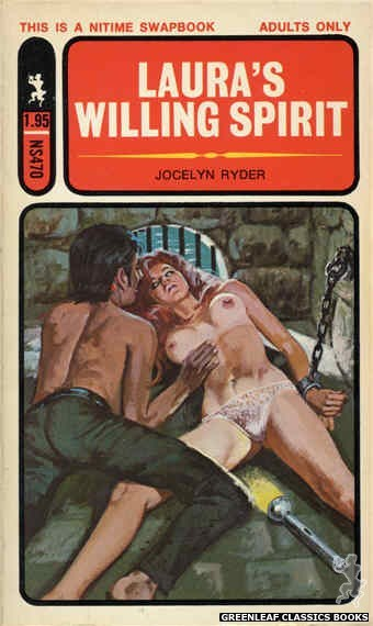 Nitime Swapbooks NS470 - Laura's Willing Spirit by Jocelyn Ryder, cover art by Robert Bonfils (1972)