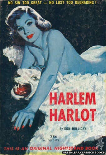 Nightstand Books NB1619 - Harem Harlot by Don Holliday, cover art by Harold W. McCauley (1962)