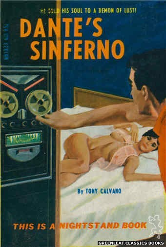 Nightstand Books NB1823 - Dante's Sinferno by Tony Calvano, cover art by Darrel Millsap (1967)