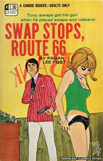 Candid Reader CA1037 - Swap Stops, Route 66 by Pagan Lee Post, cover art by Robert Kinyon (1970)