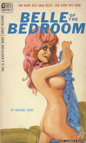 Nightstand Books NB1861 - Belle of The Bedroom by Michael Scott, cover art by Tomas Cannizarro (1967)