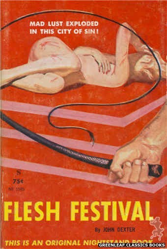 Nightstand Books NB1585 - Flesh Festival by John Dexter, cover art by Harold W. McCauley (1961)