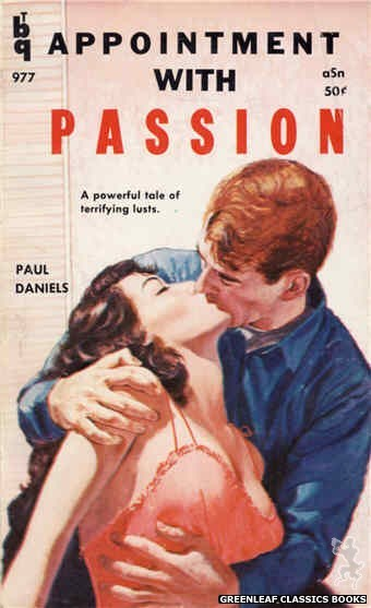Bedside Books BTB 977 - Appointment With Passion by Paul Daniels, cover art by Unknown (1960)