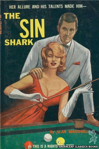 Nightstand Books NB1809 - The Sin Shark by Alan Marshall, cover art by Unknown (1966)