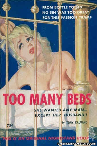Nightstand Books NB1584 - Too Many Beds by Tony Calvano, cover art by Harold W. McCauley (1961)