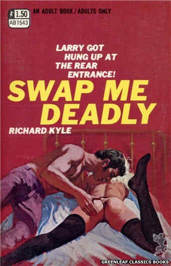 Adult Books AB1543 - Swap Me Deadly by Richard Kyle, cover art by Robert Bonfils (1970)