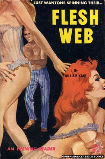 Evening Reader ER730 - Flesh Web by William Kane, cover art by Robert Bonfils (1964)