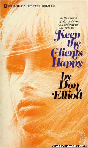 Reed Nightstand 3048 - Keep the Clients Happy by Don Elliott, cover art by Photo Cover (1973)