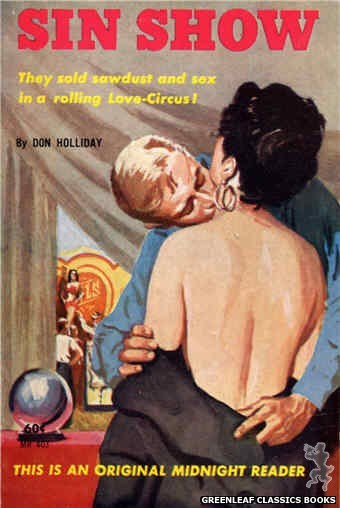 Midnight Reader 1961 MR403 - Sin Show by Don Holliday, cover art by Harold W. McCauley (1961)