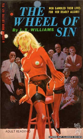 Leisure Books LB1190 - The Wheel Of Sin by J.X. Williams, cover art by Robert Bonfils (1967)