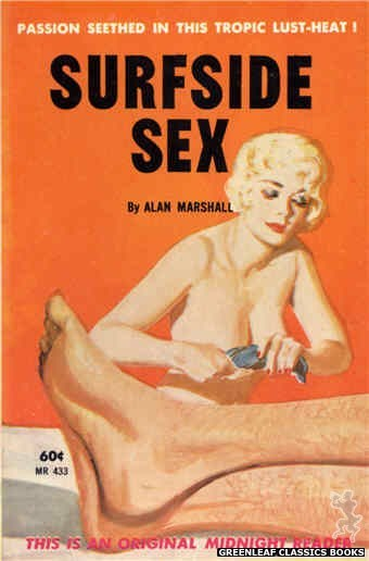 Midnight Reader 1961 MR433 - Surfside Sex by Alan Marshall, cover art by Harold W. McCauley (1962)