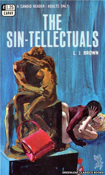 Candid Reader CA969 - The Sin-Tellectuals by L.J. Brown, cover art by Robert Bonfils (1969)