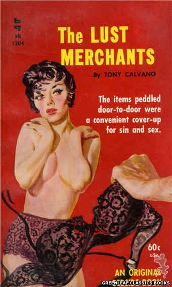 Bedside Books BB 1204 - The Lust Merchants by Tony Calvano, cover art by Harold W. McCauley (1961)
