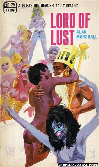 Pleasure Reader PR199 - Lord Of Lust by Alan Marshall, cover art by Robert Bonfils (1969)