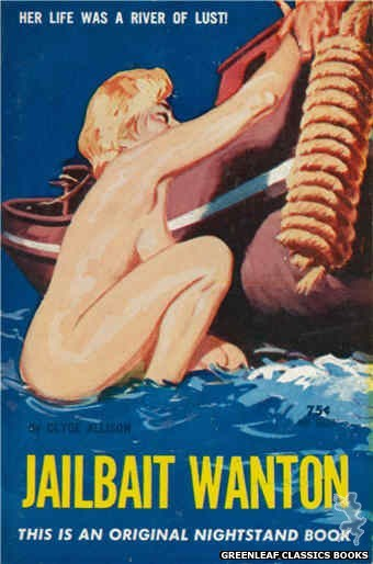 Nightstand Books NB1628 - Jailbait Wanton by Clyde Allison, cover art by Harold W. McCauley (1962)