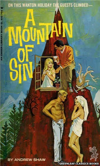 Ember Library EL 332 - A Mountain of Sin by Andrew Shaw, cover art by Robert Bonfils (1966)