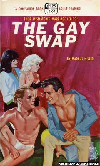 Companion Books CB554 - The Gay Swap by Marcus Miller, cover art by Darrel Millsap (1968)