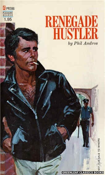 Pleasure Reader PR386 - Renegade Hustler by Phil Andros, cover art by Robert Bonfils (1972)