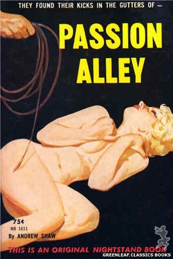 Nightstand Books NB1611 - Passion Alley by Andrew Shaw, cover art by Harold W. McCauley (1962)