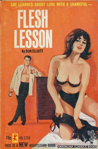 Nightstand Books NB1759 - Flesh Lesson by Don Elliott, cover art by Unknown (1965)