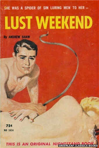 Nightstand Books NB1614 - Lust Weekend by Andrew Shaw, cover art by Harold W. McCauley (1962)