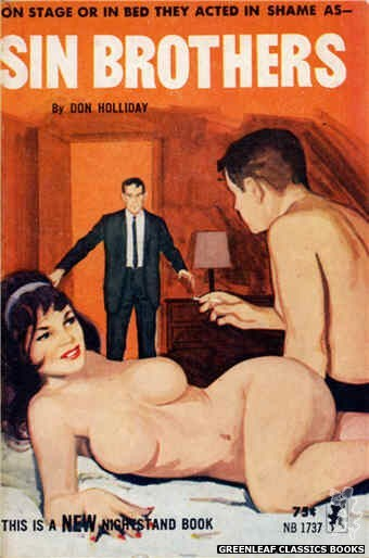 Nightstand Books NB1737 - Sin Brothers by Don Holliday, cover art by Unknown (1965)