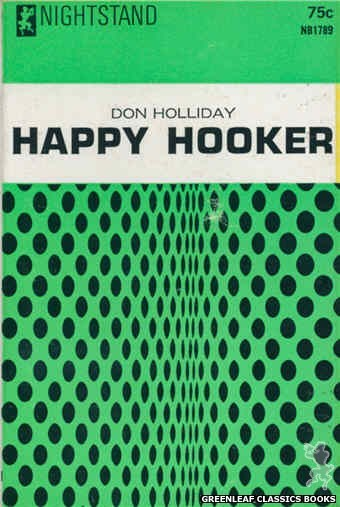 Nightstand Books NB1789 - Happy Hooker by Don Holliday, cover art by Text + Design Only (1966)