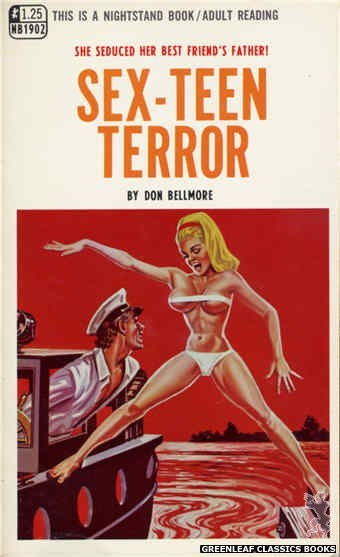 Nightstand Books NB1902 - Sex-Teen Terror by Don Bellmore, cover art by Tomas Cannizarro (1968)