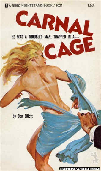 Reed Nightstand 3021 - Carnal Cage by Don Elliott, cover art by Ed Smith (1973)
