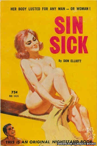 Nightstand Books NB1631 - Sin Sick by Don Elliott, cover art by Robert Bonfils (1962)