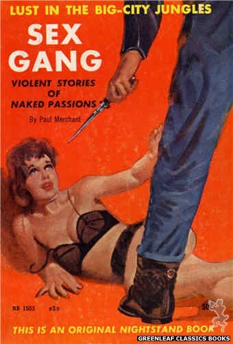 Nightstand Books NB1503 - Sex Gang by Paul Merchant, cover art by Harold W. McCauley (1959)