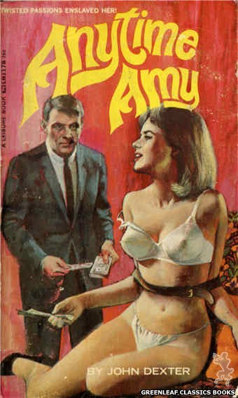 Leisure Books LB1178 - Anytime Amy by John Dexter, cover art by Unknown (1966)