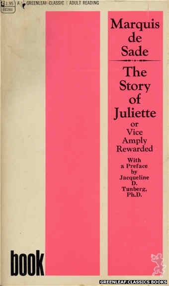 Greenleaf Classics GC281 - The Story of Juliette Book II by Marquis de Sade, cover art by Text Only (1968)